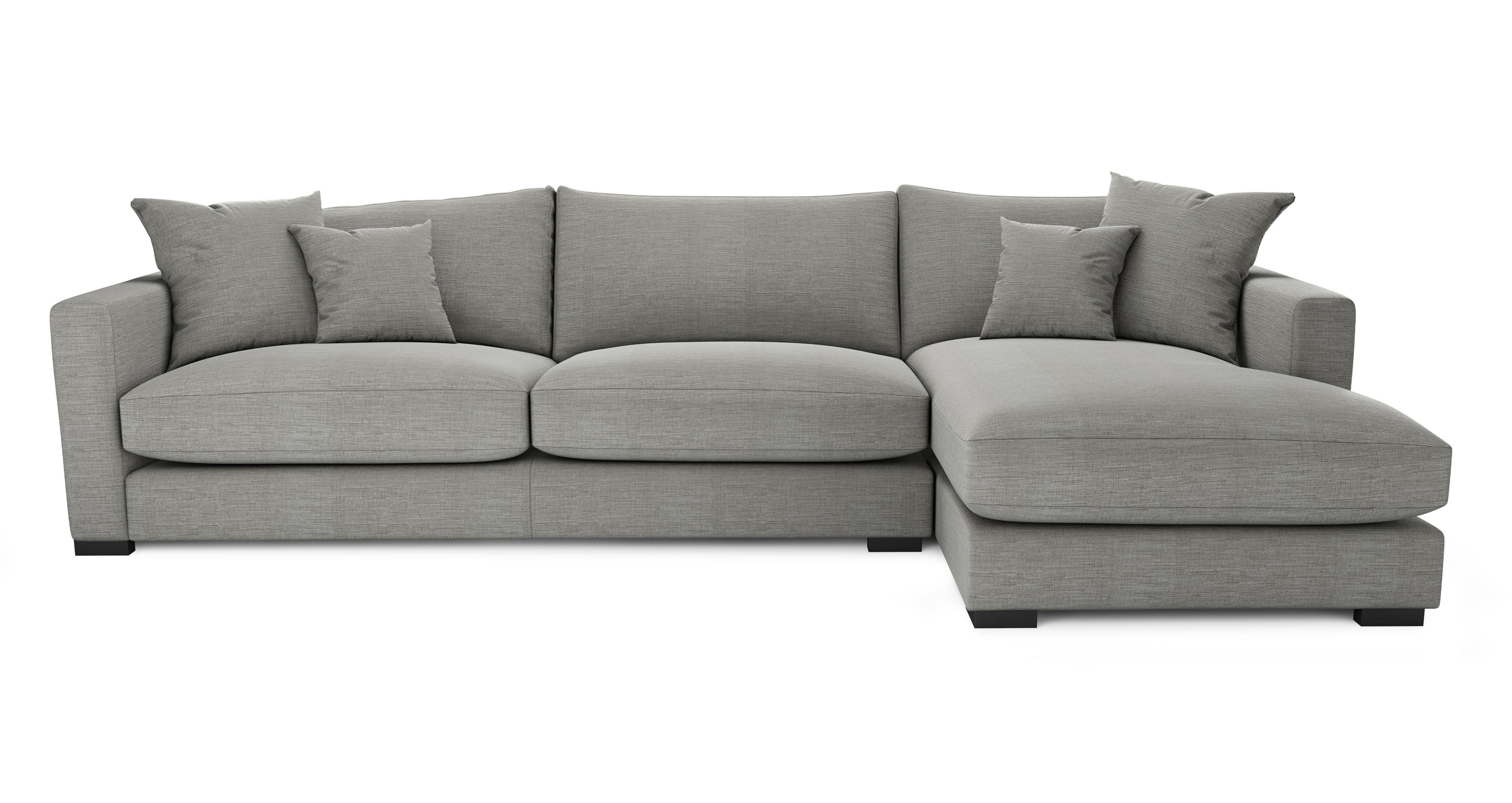 large chaise sofa dfs european sleeper dillon smart weave right hand facing end