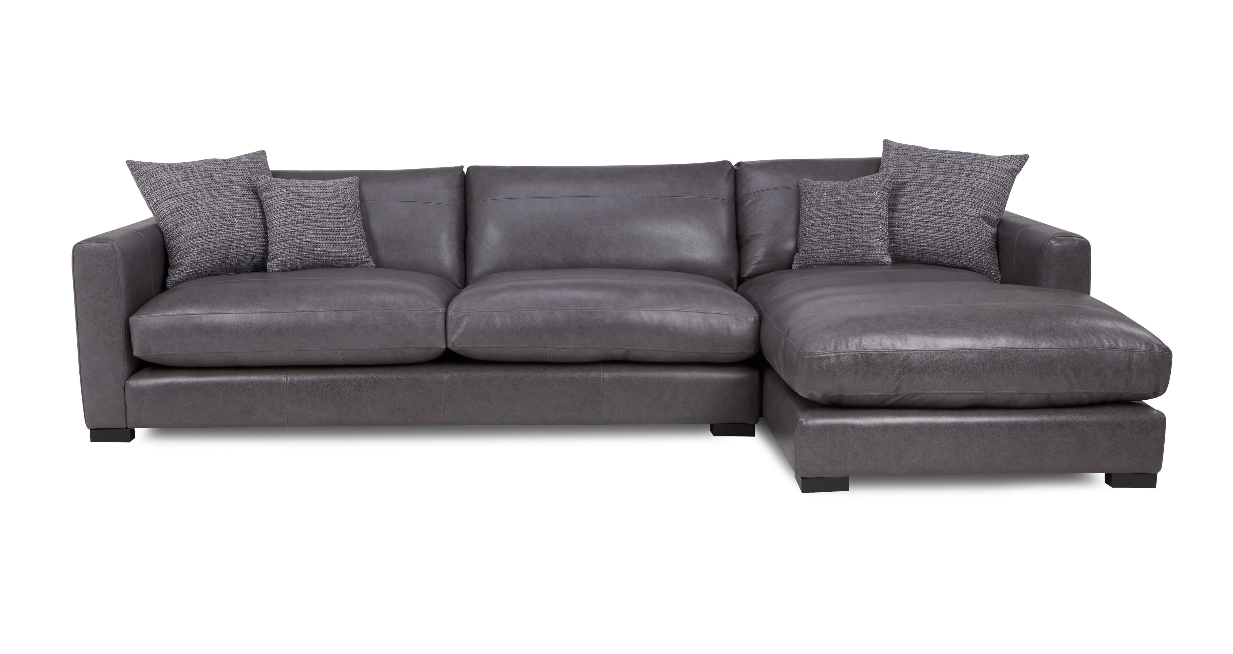 large chaise sofa dfs florence dillon leather right hand facing end
