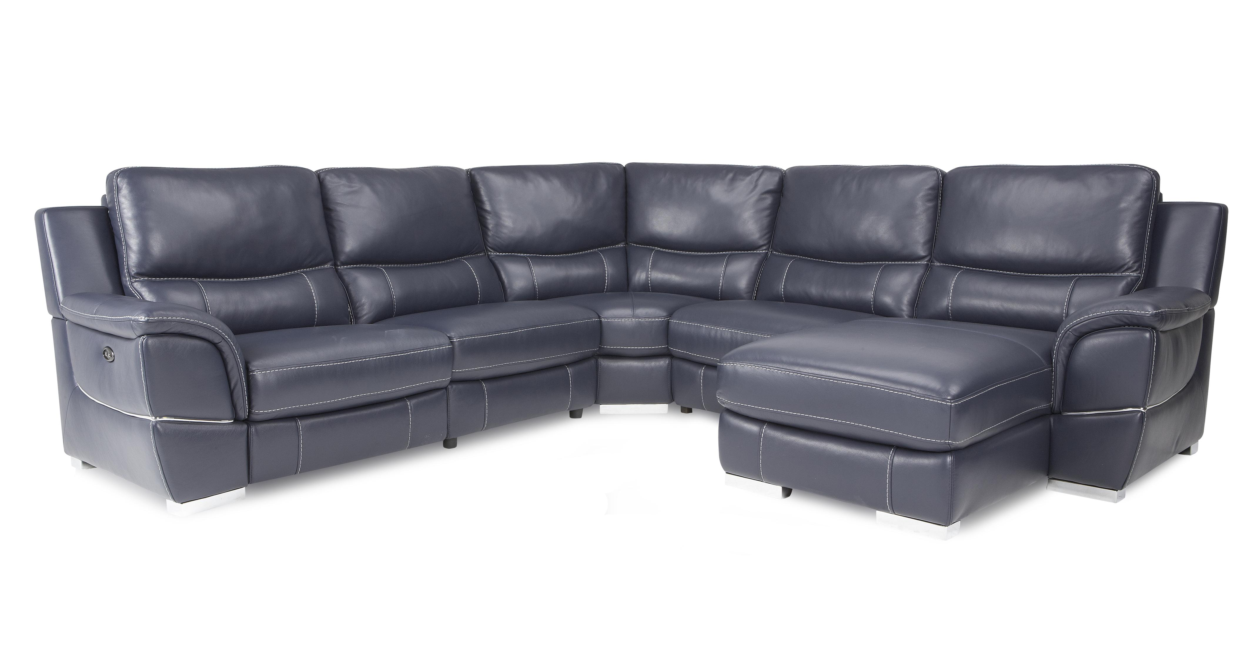 large chaise sofa dfs comfort sleeper director right hand facing electric corner new