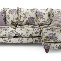 Patterned Sofas Uk How To Clean A Sofa Chair Ellie Floral Right Hand Facing 4 Seater Chaise End