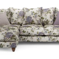 Floral Sectional Sofa Lazy Boy Bed Inflatable Mattress Ellie Left Hand Facing 4 Seater Chaise End