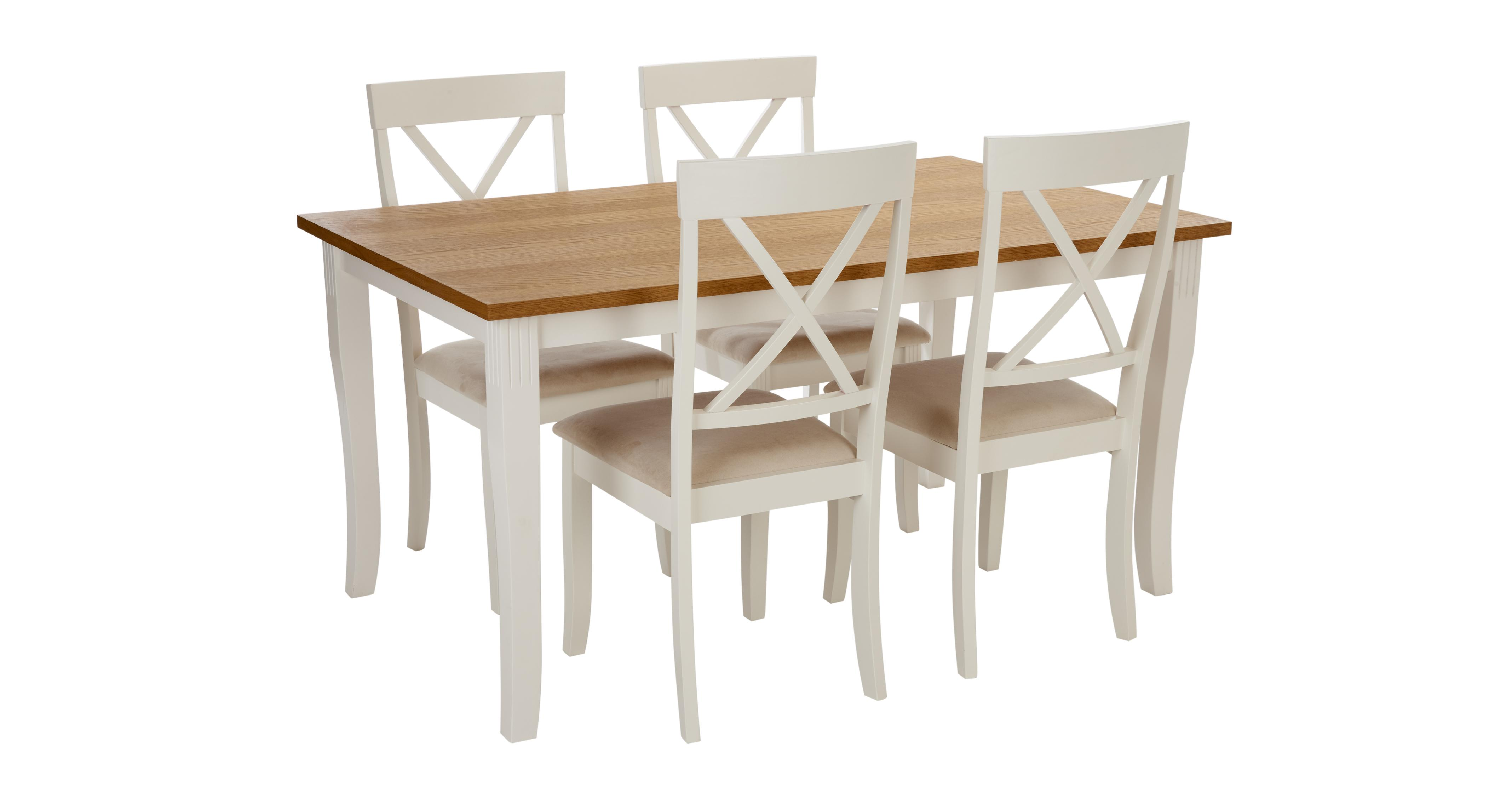 white dining chairs set of 4 kids sleeper chair evesham rectangular table and dfs