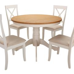 Pedestal Kitchen Table Aid Silver Evesham Round Dining Set Of 4 Chairs Dfs