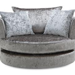 Swivel Chair Ireland Grey Arm Gabriella Large Krystal Dfs