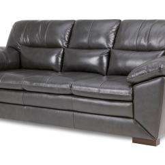 3 Seater Leather Sofa Dfs Neville Chamberlain Global Slate Grey Ebay