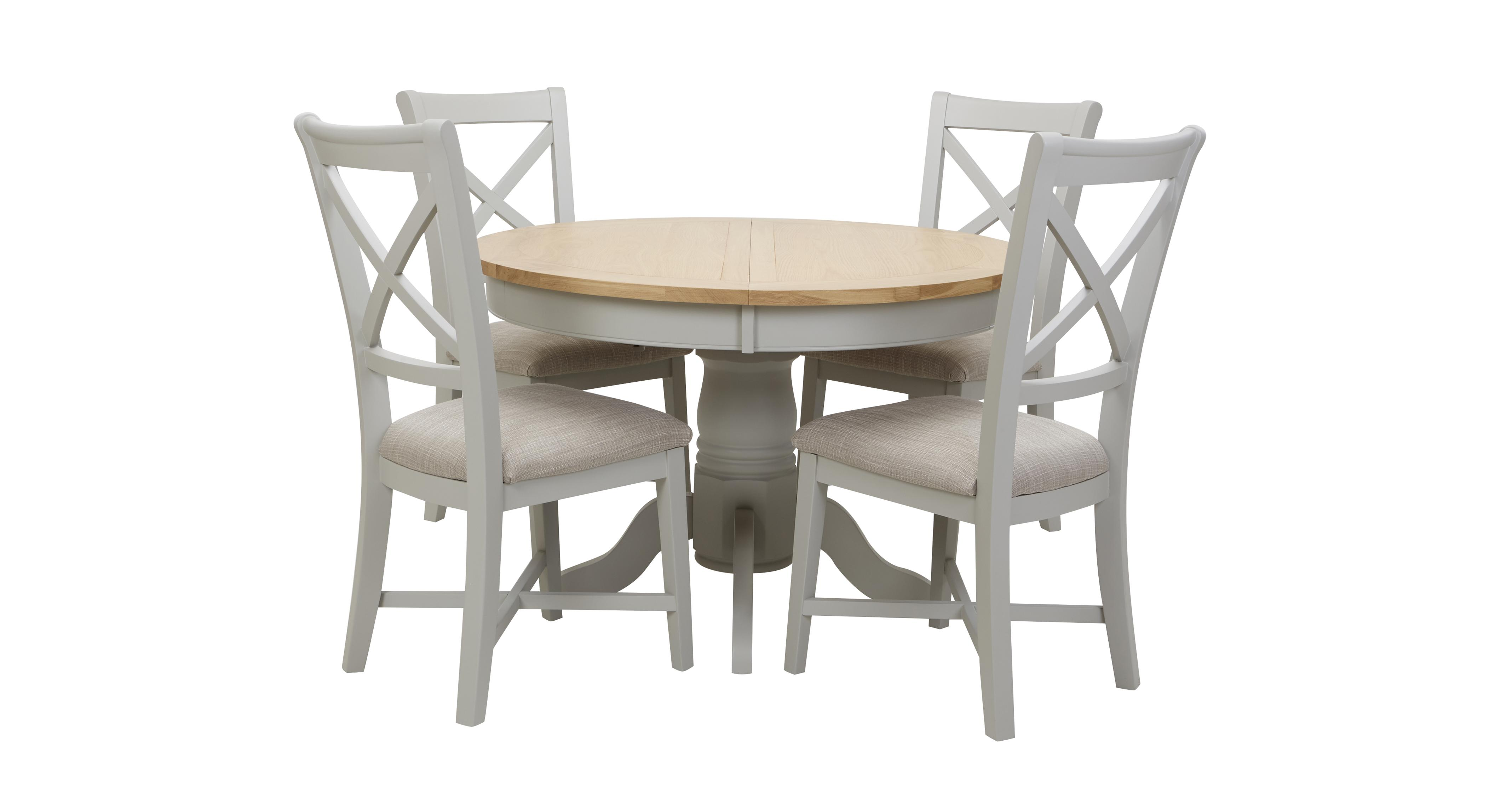 set of 4 dining chairs ebay chair covers and sashes harbour round extending table dfs ireland