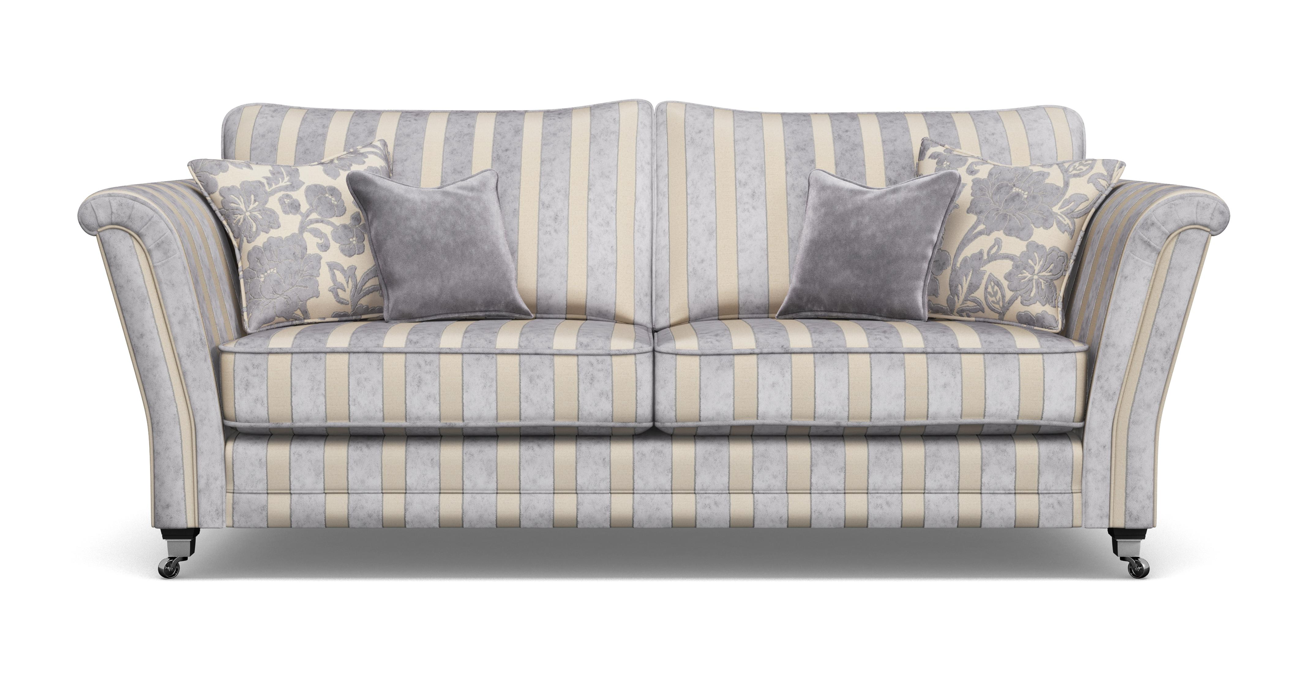 stripe sofa two tone leather and microfiber striped brokeasshome
