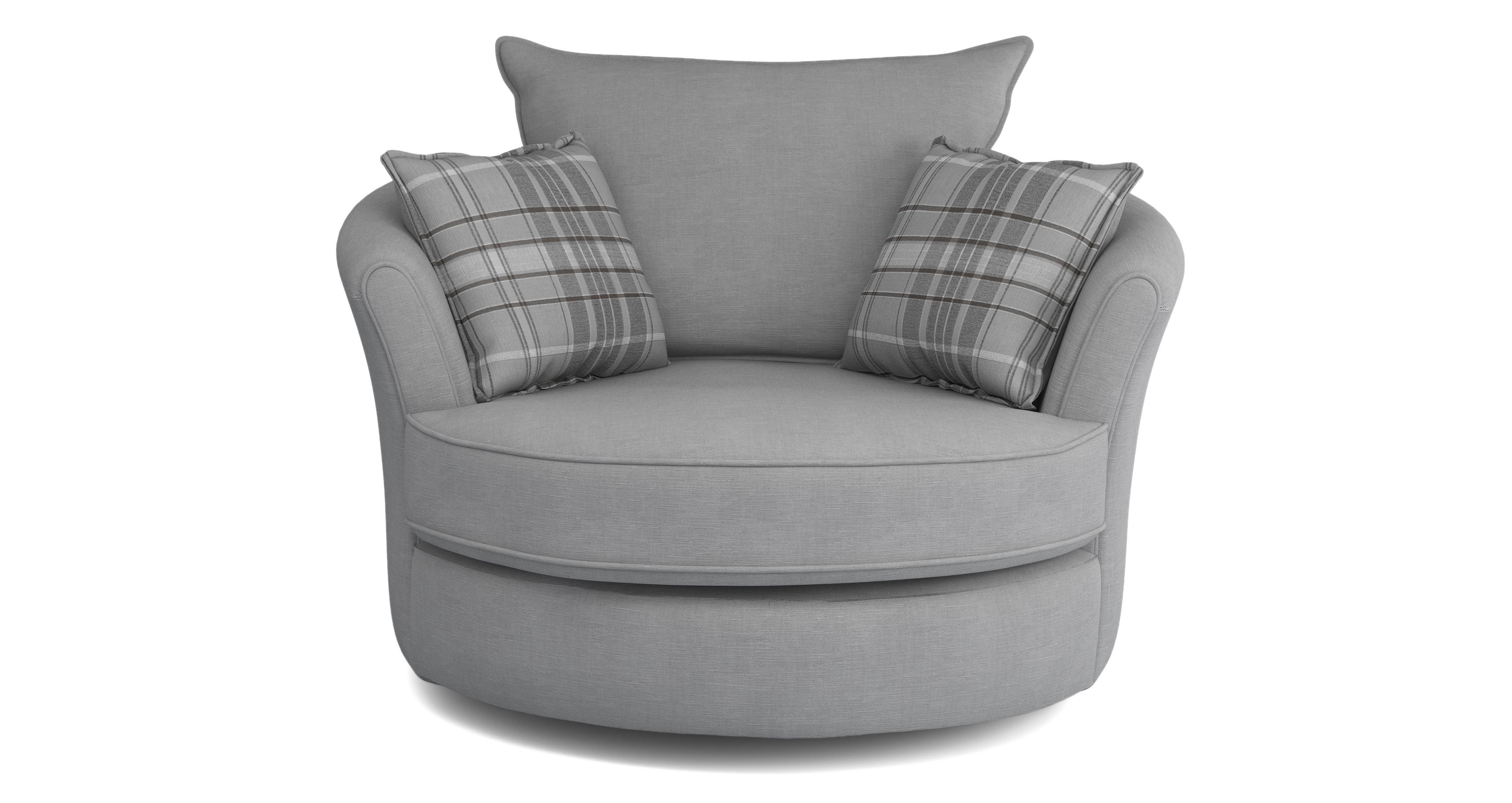 grey fabric swivel office chair covers tesco dfs jasper ash ebay