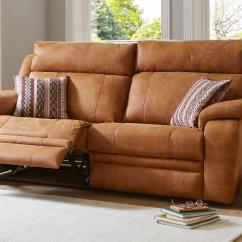 Reclining Leather Sofas How To Get Ink Off Sofa Recliner In Classic Modern Styles Dfs Journey 3 Seater Manual Saddle