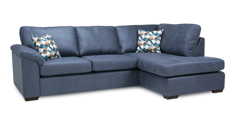 denim sofas uk sofa blacksmith 2017 kenzy left hand facing arm open end deluxe corner bed