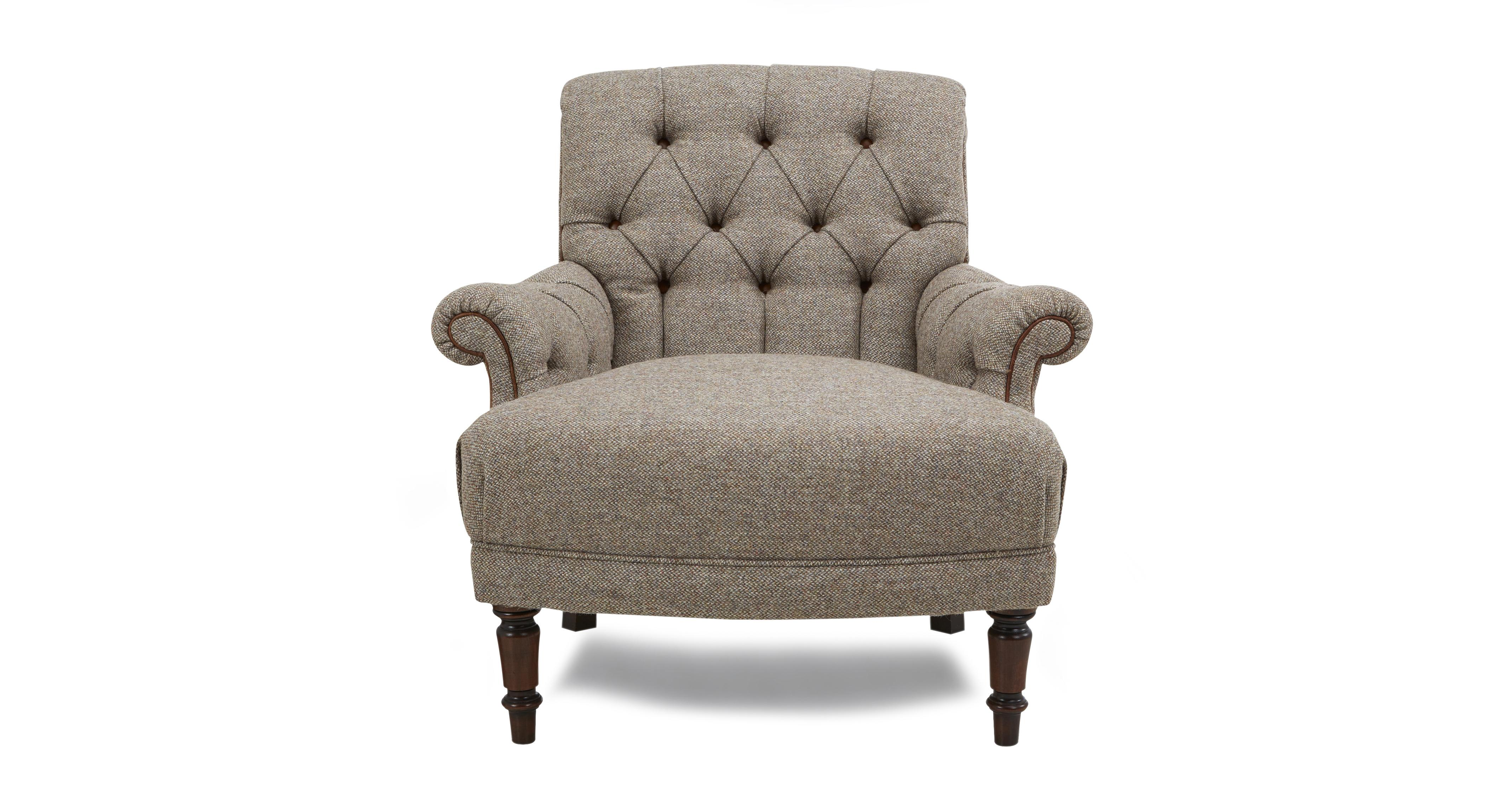 swivel chair ireland x back chairs white kintyre accent harris tweed dfs
