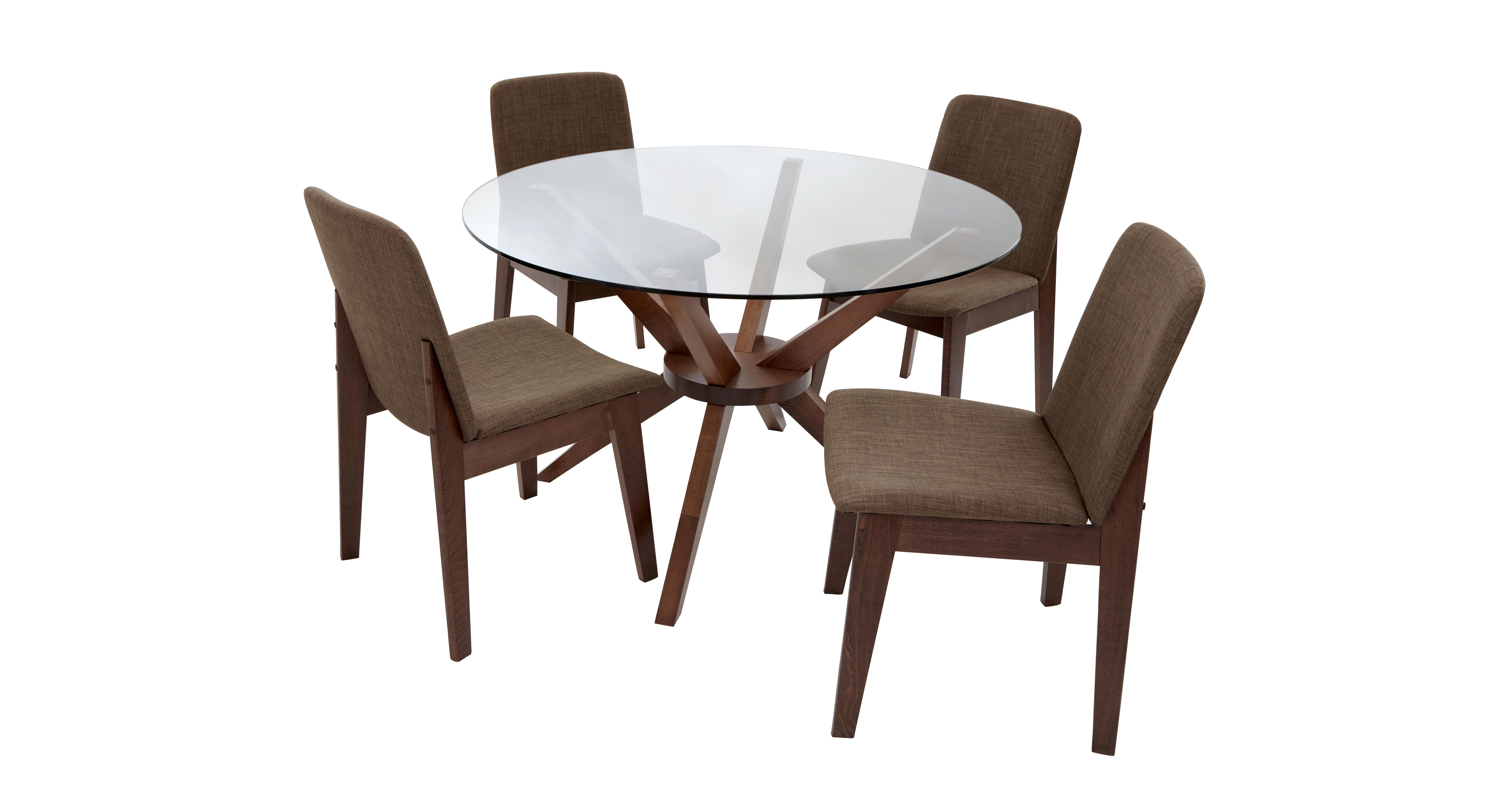 circle glass table and chairs embody chair by herman miller review kitsch round set of 4 dfs
