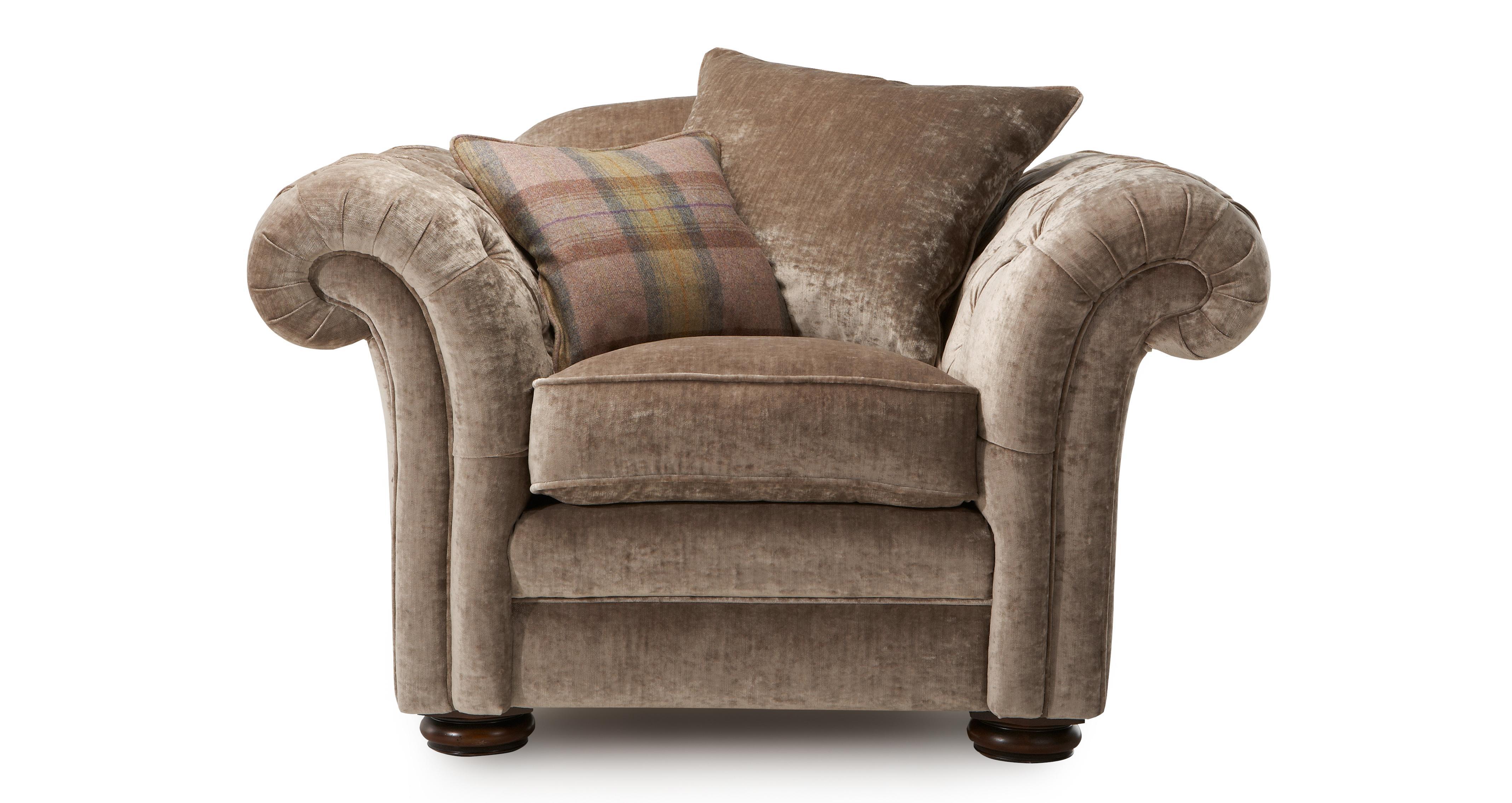 armchair pillow linen dining chair cushions loch leven back dfs