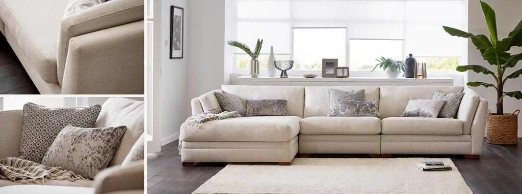 large chaise sofa dfs simmons harbortown instructions long beach left hand facing ireland