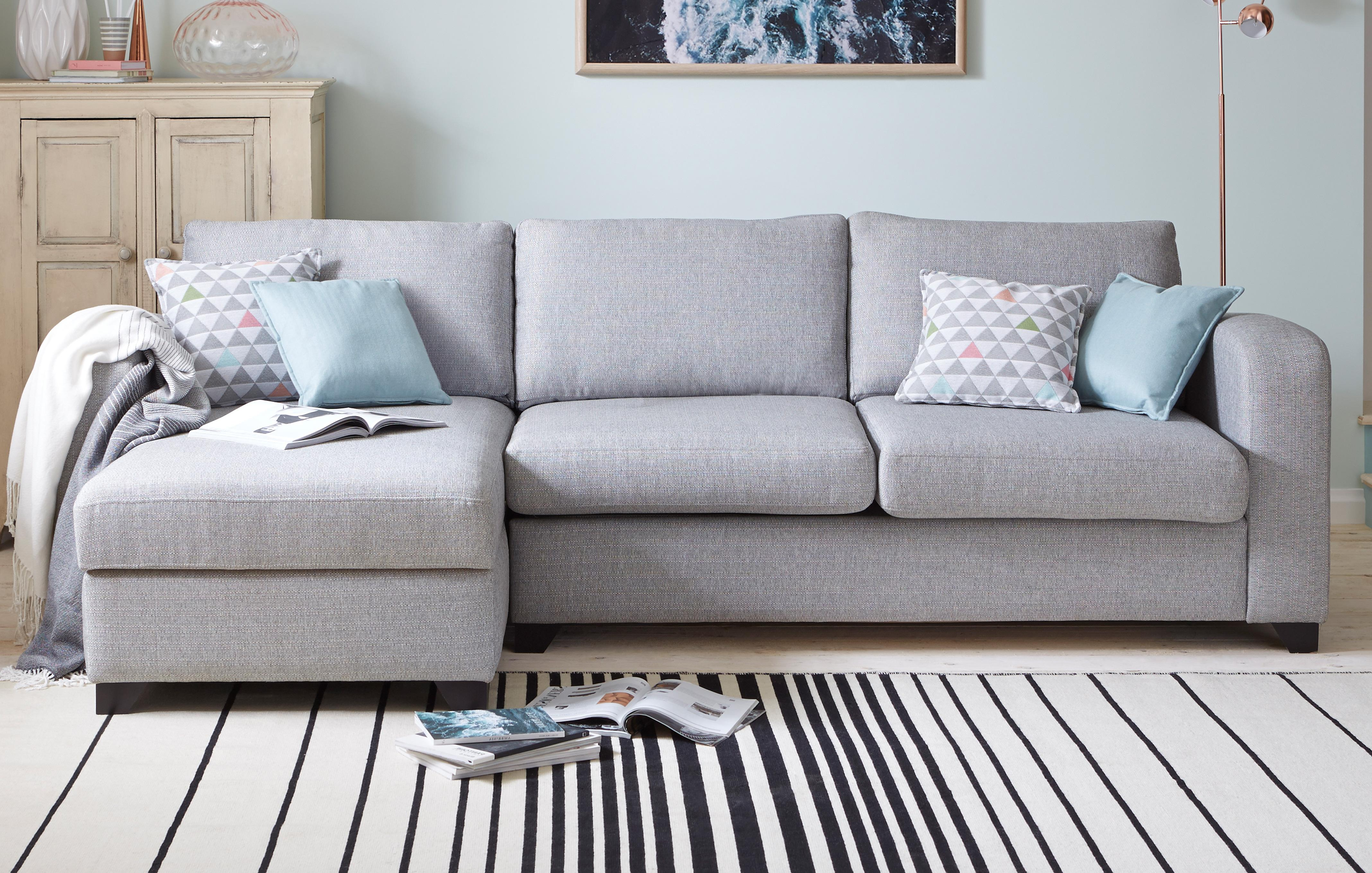 right arm facing sofa left chaise sleeper sofas toronto corner beds in both fabric & leather | dfs