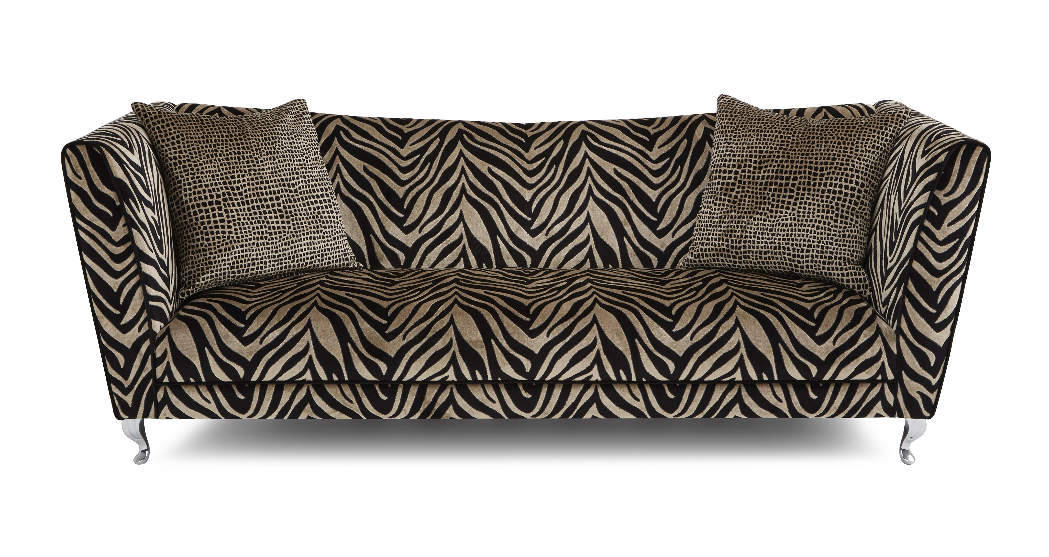 leopard print sofa appears quality bed brands madagascar tiger pattern 4 seater dfs