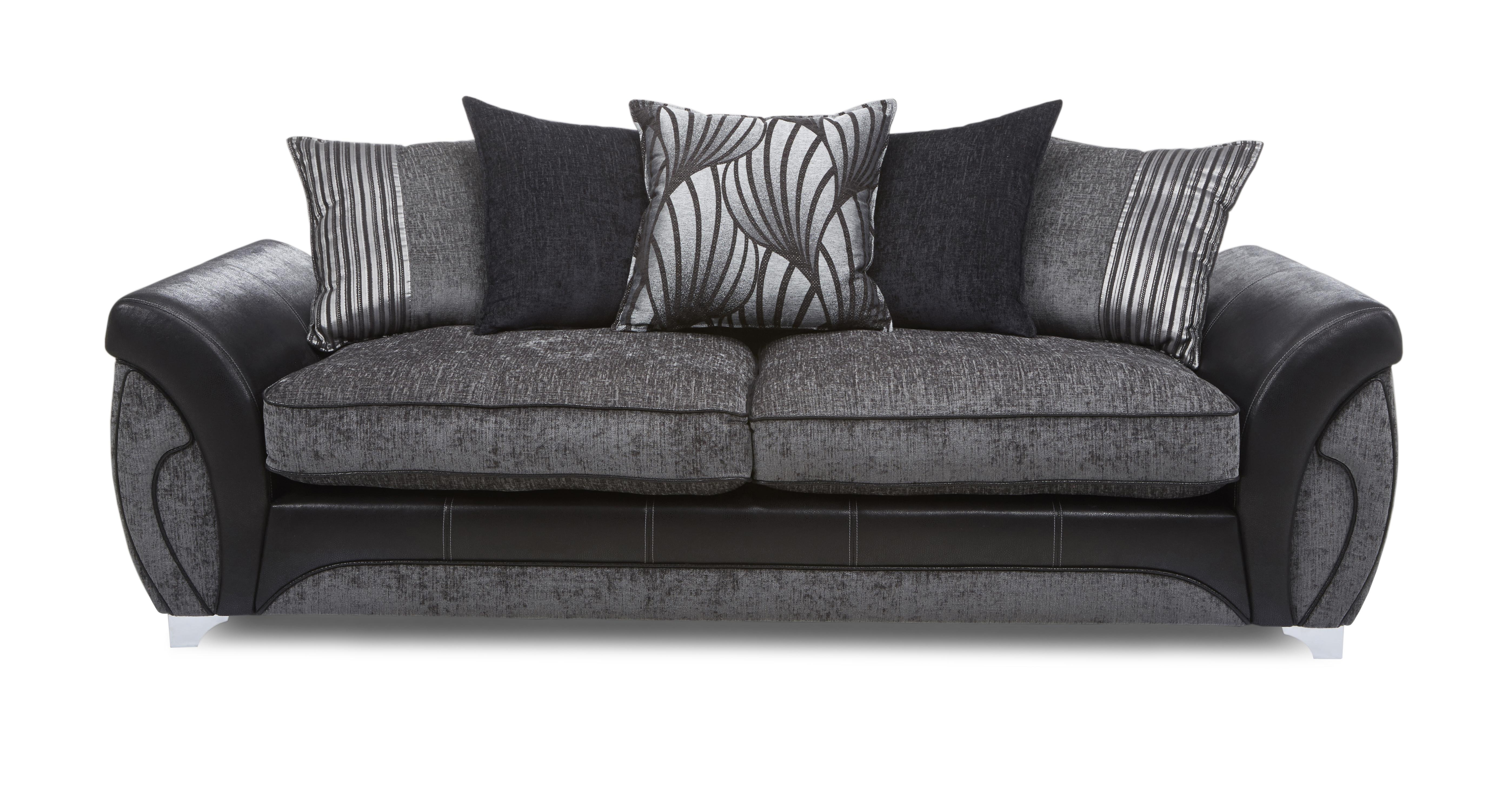 black 3 seater sofa and cuddle chair bernhart 4 leather dfs gradschoolfairs