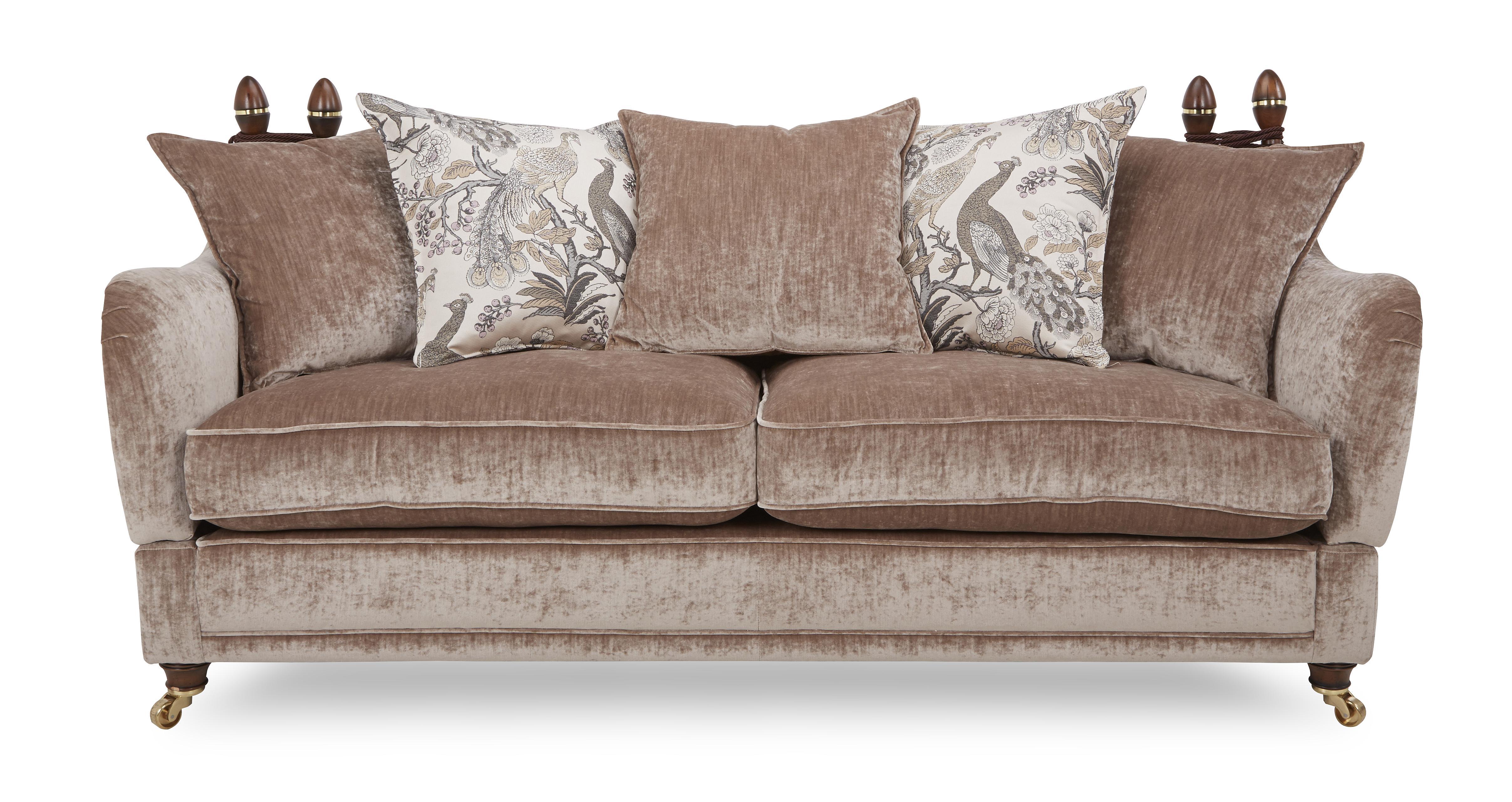 Morris 4 Seater Plain Pillow Back Sofa  DFS