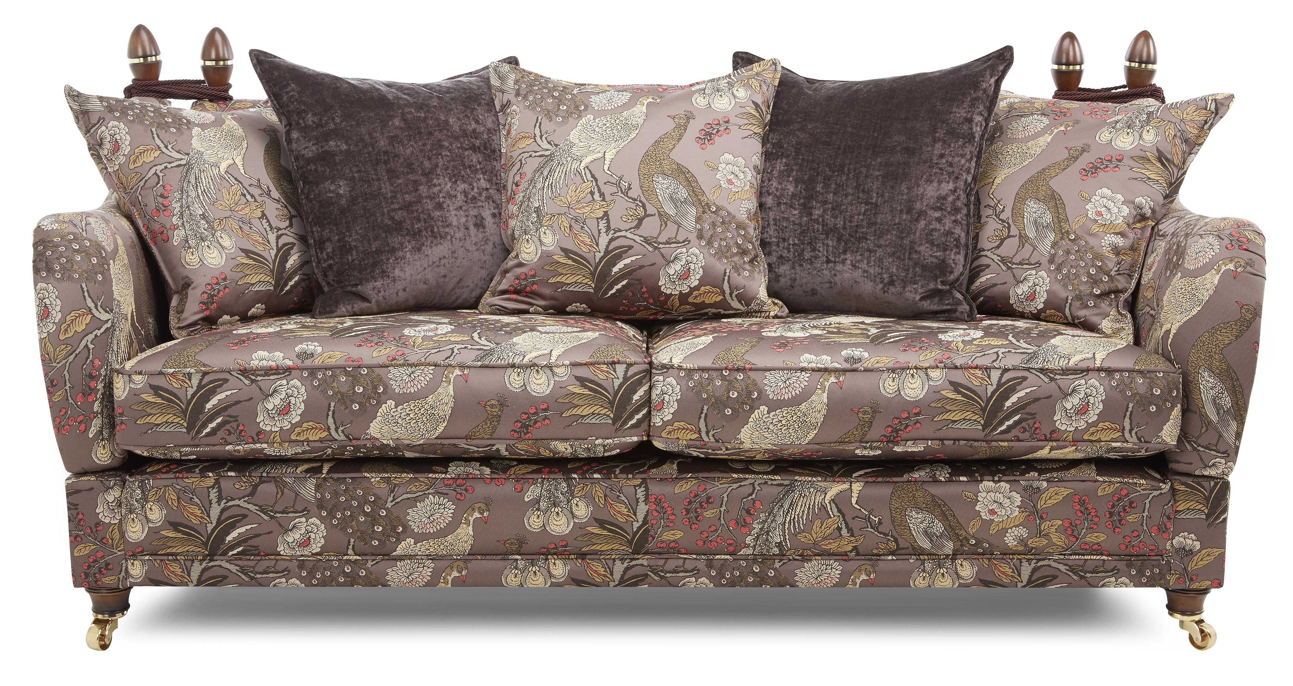 patterned sofas uk custom leather sofa north carolina morris 4 seater pattern pillow back dfs ireland