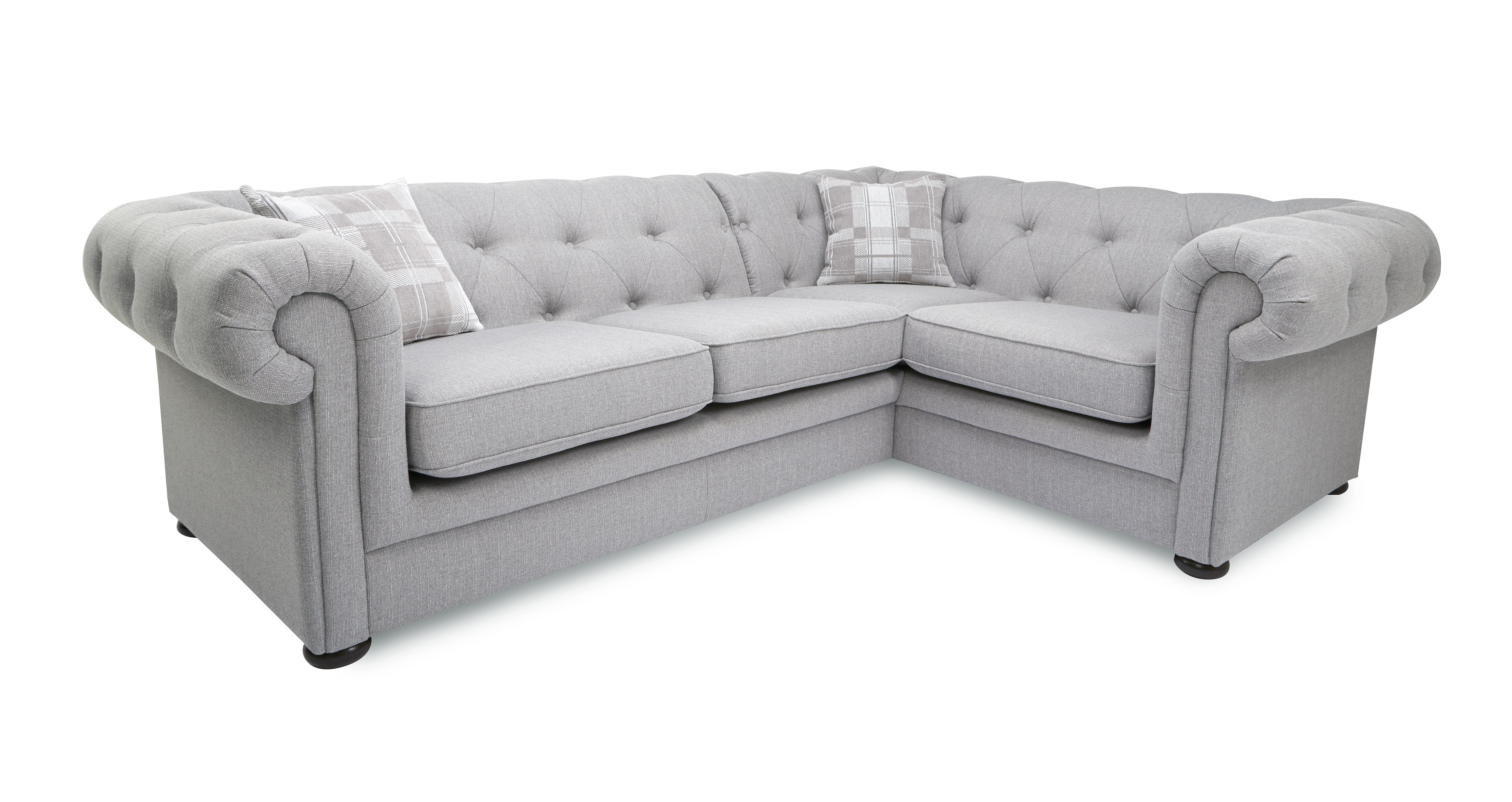grey leather chesterfield sofa dfs l shaped sectional with chaise 2 brokeasshome