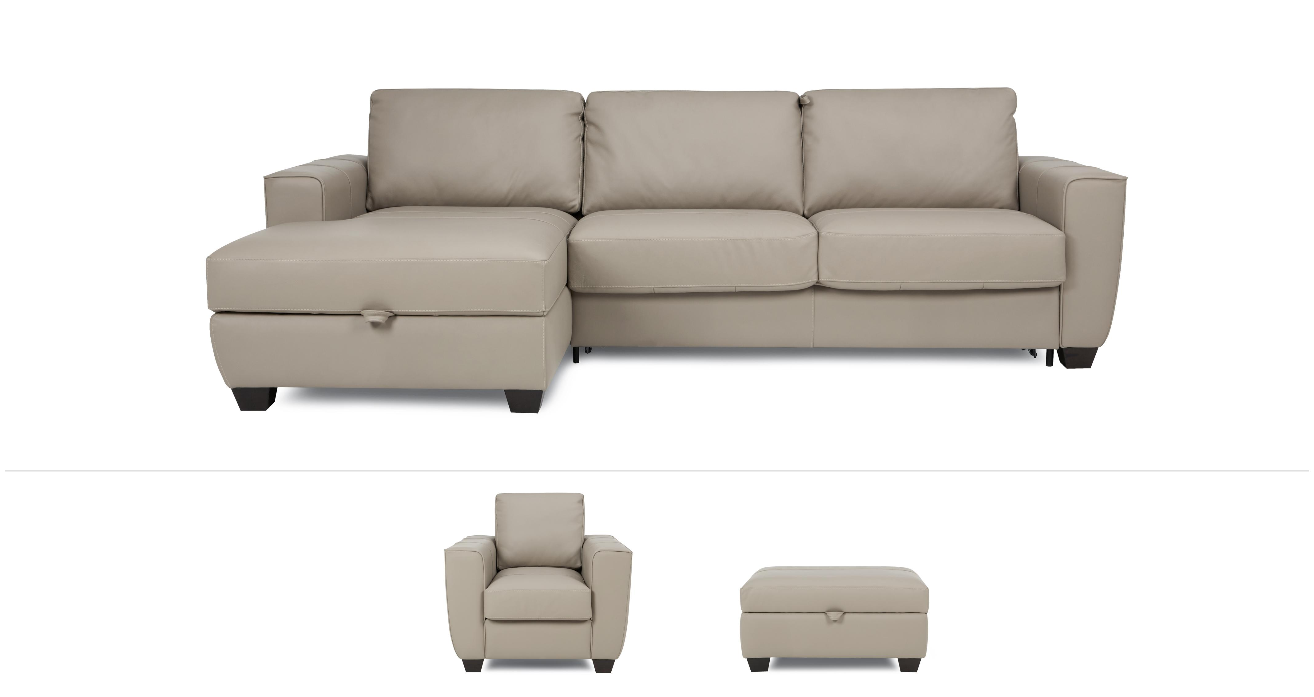 large chaise sofa dfs blanket to cover otto clearance left hand facing storage bed