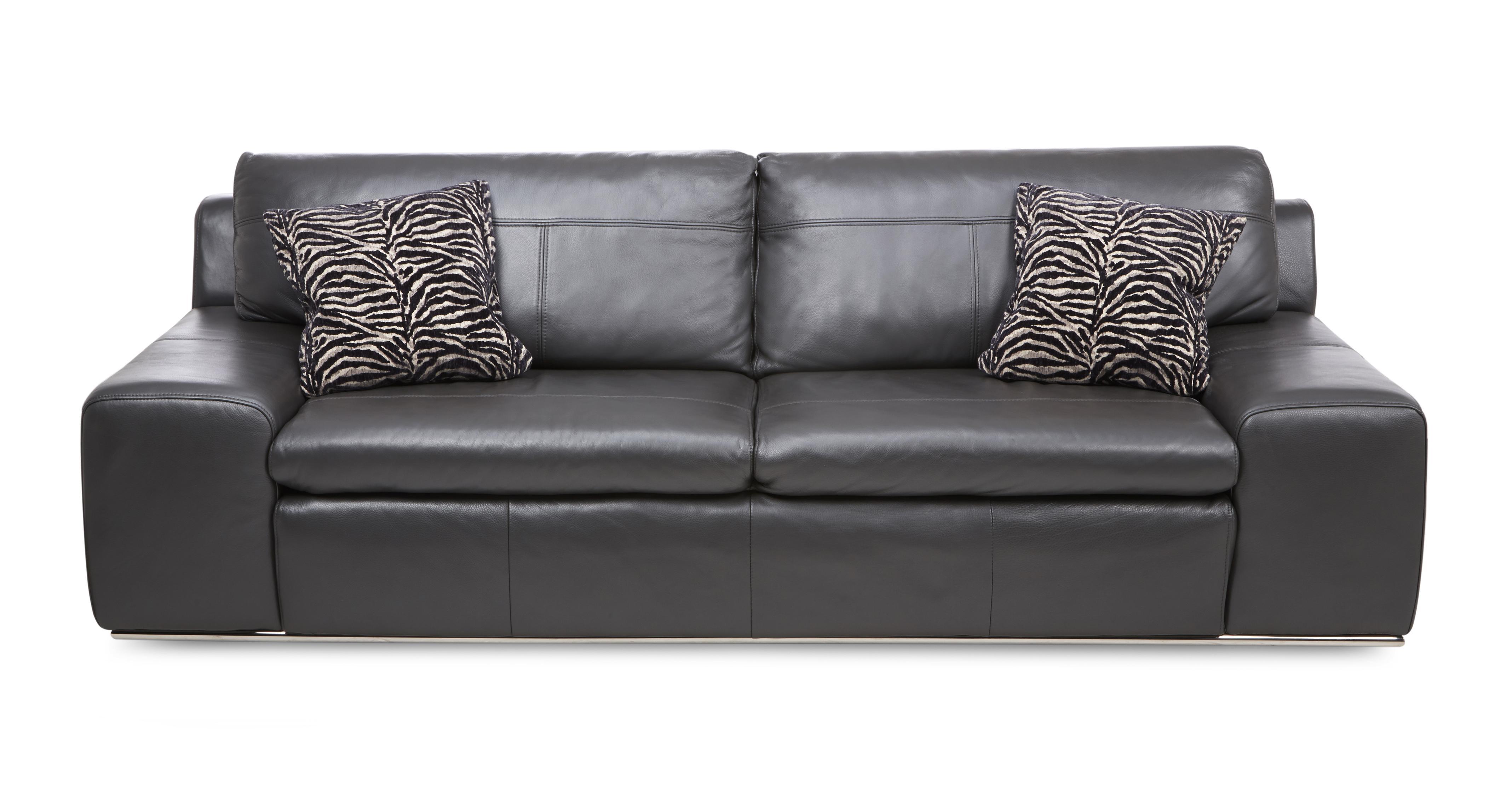 3 seater leather sofa dfs redondo area externa palladium fuse