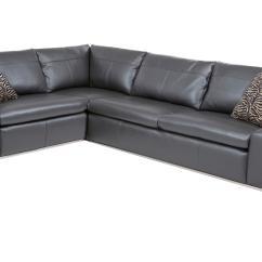 Nova Black And White Leather Corner Sofa Right Hand Breakfast Nook Bed