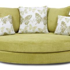 Lime Sofa Uk Violino Italian Leather Reviews Dfs Pennie Green Fabric Cuddler Ebay
