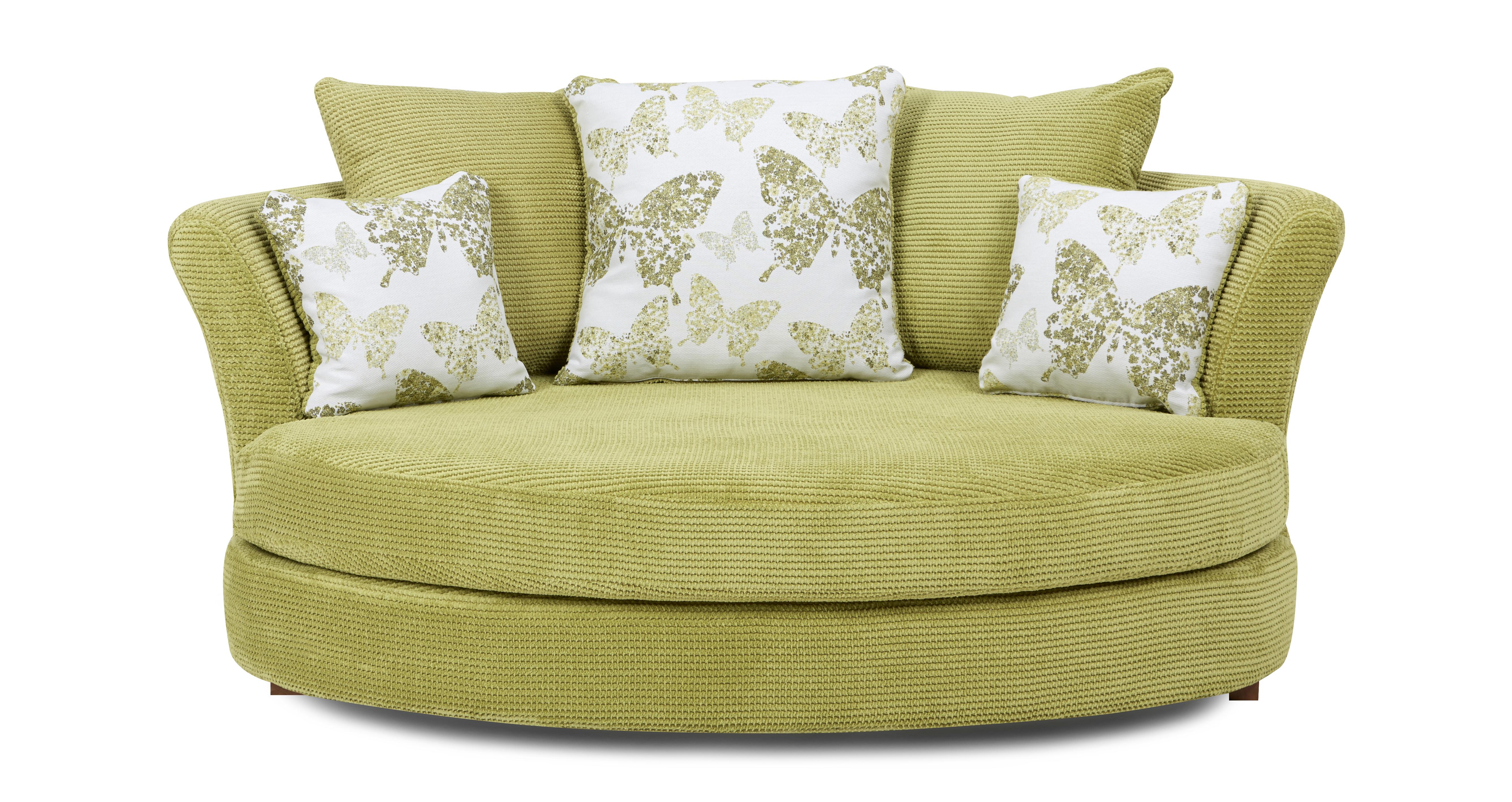 lime sofa chair florence leather bed dfs pennie green fabric cuddler ebay
