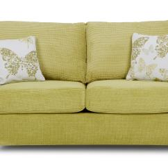 Lime Sofa Uk Sectional With Chaise Covers Dfs Pennie Green Fabric 2 Seater Formal Back Bed