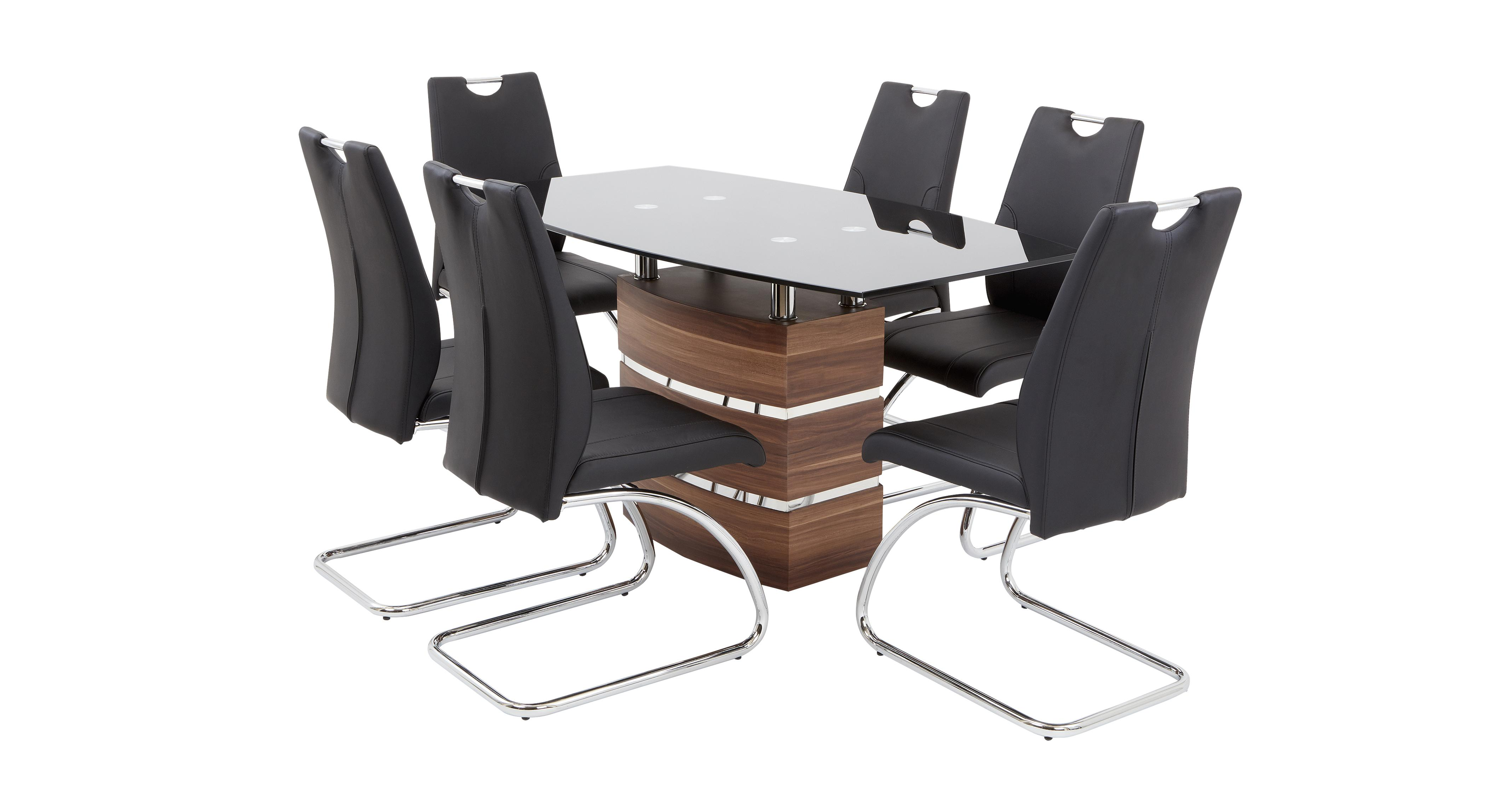 Phoenix Chair Company Phoenix Large Fixed Dining Table And 4 Cantilever Chairs Dfs