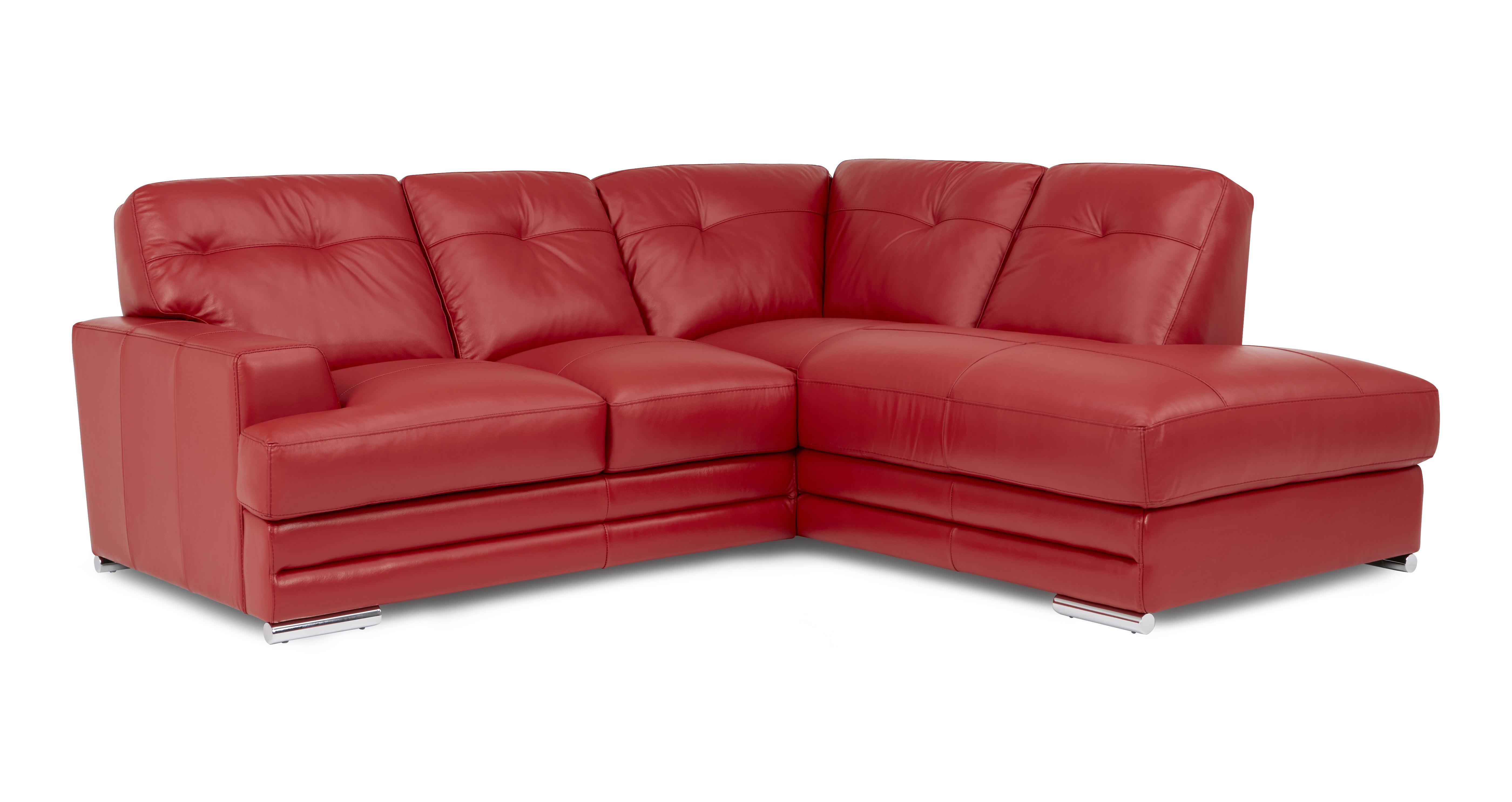 dfs red leather corner sofa bed low cost sectional quantum set 3 piece