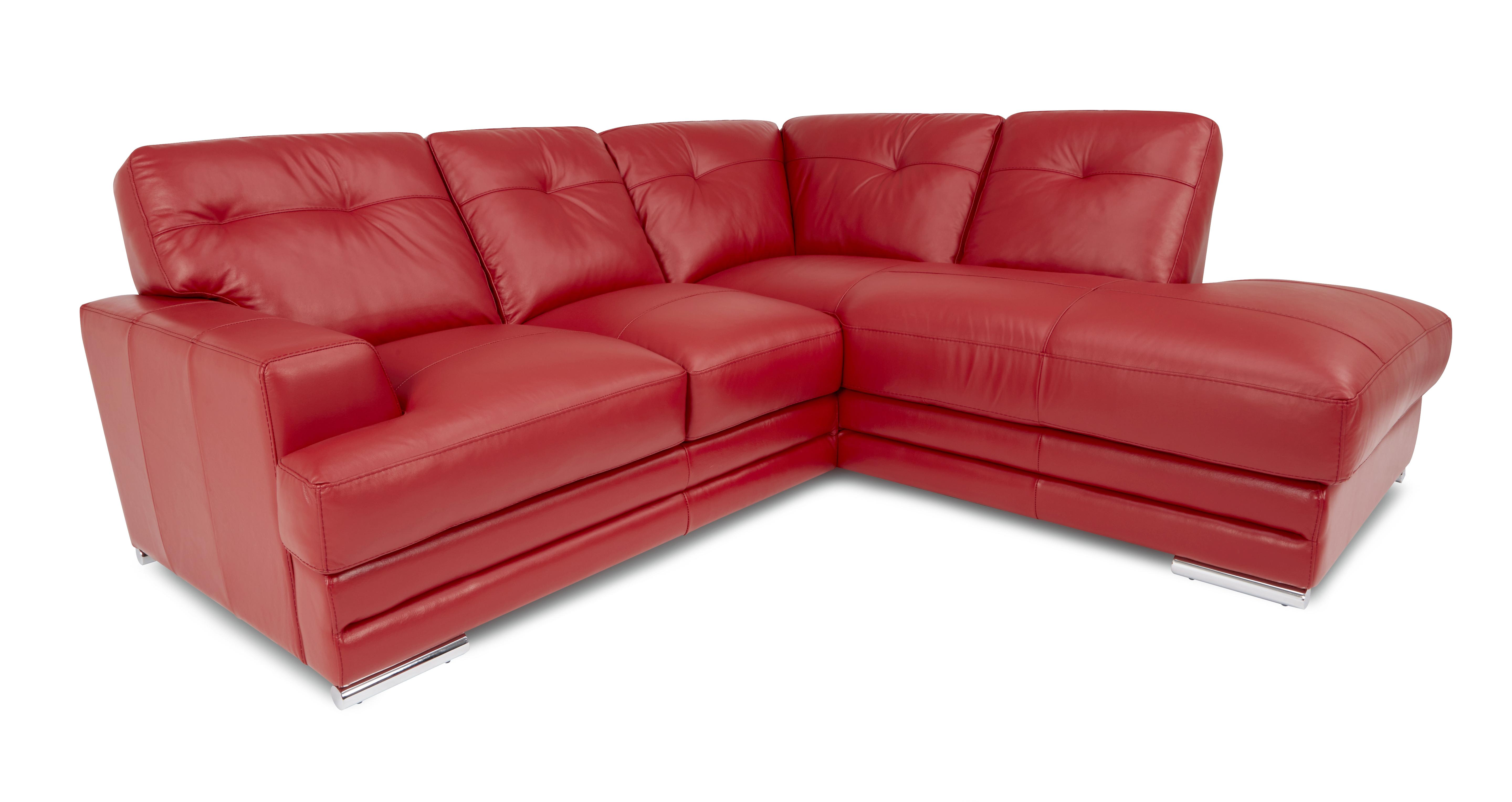 rosso red leather 3 piece sofa set best cleaners nyc dfs quantum corner