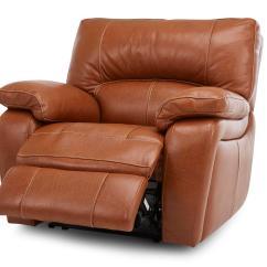 Leather Sofa Brown Dfs Drexel Recliner Brokeasshome