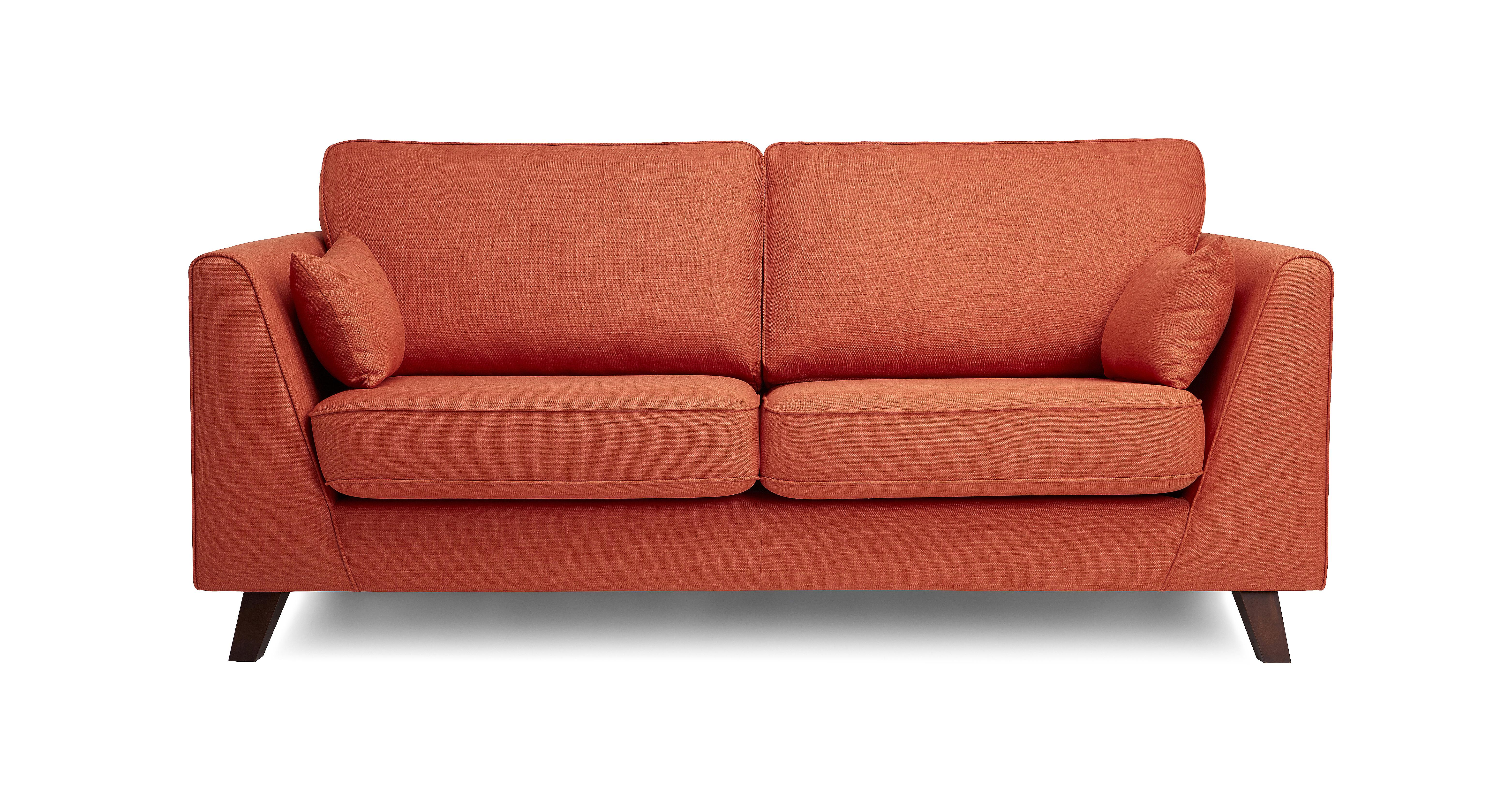 orange sofa uk sectional contemporary spark 3 seater revive dfs