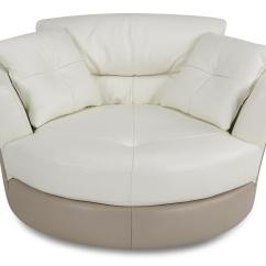 Round Swivel Cuddle Chair Home Theater Chairs Cuddler Sofa Decor