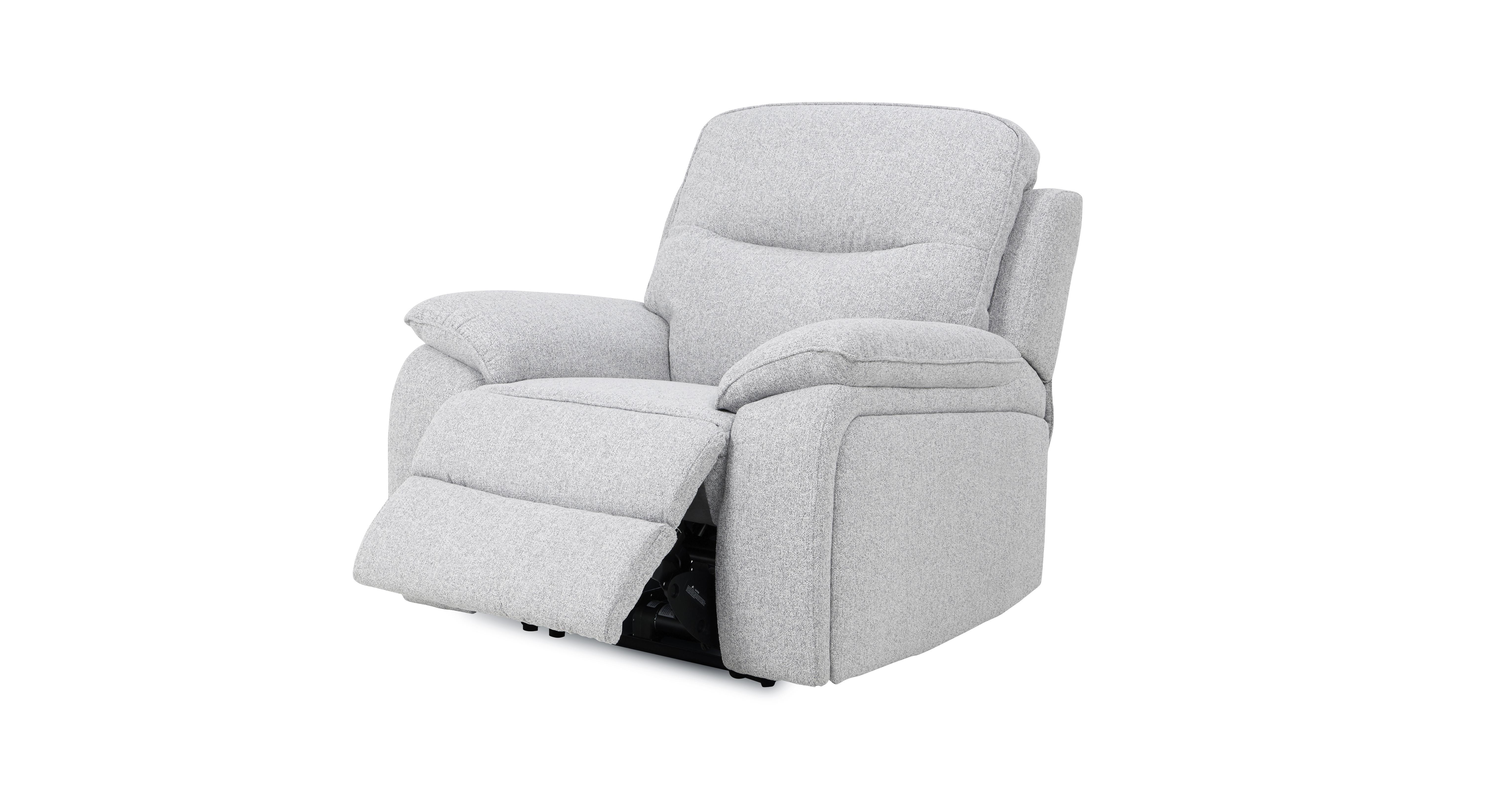 grey leather recliner chair uk ergonomic marina square dfs superb silver fabric set 3 2