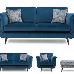 Sofa Express Uk Reviews Restoration Hardware Track Arm Leather Topaz Clearance Large Sofa, Medium Chair & Footstool ...
