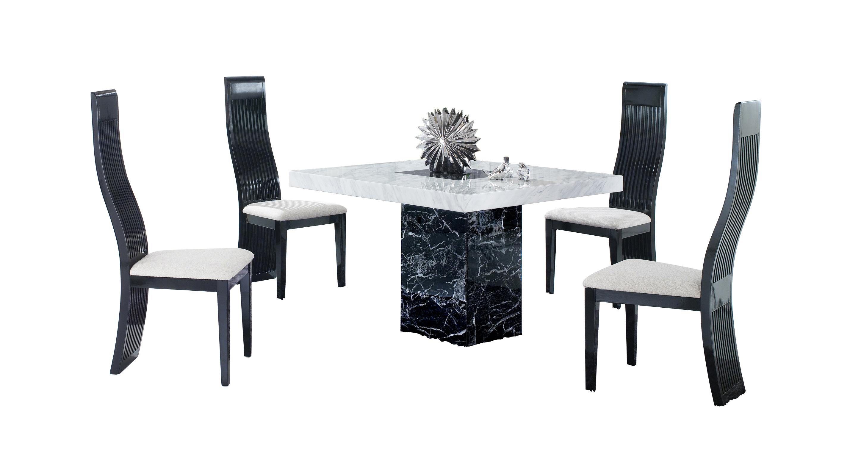 marble top table with 4 chairs chair covers for dining room rounded back vienna square and tulsa dfs