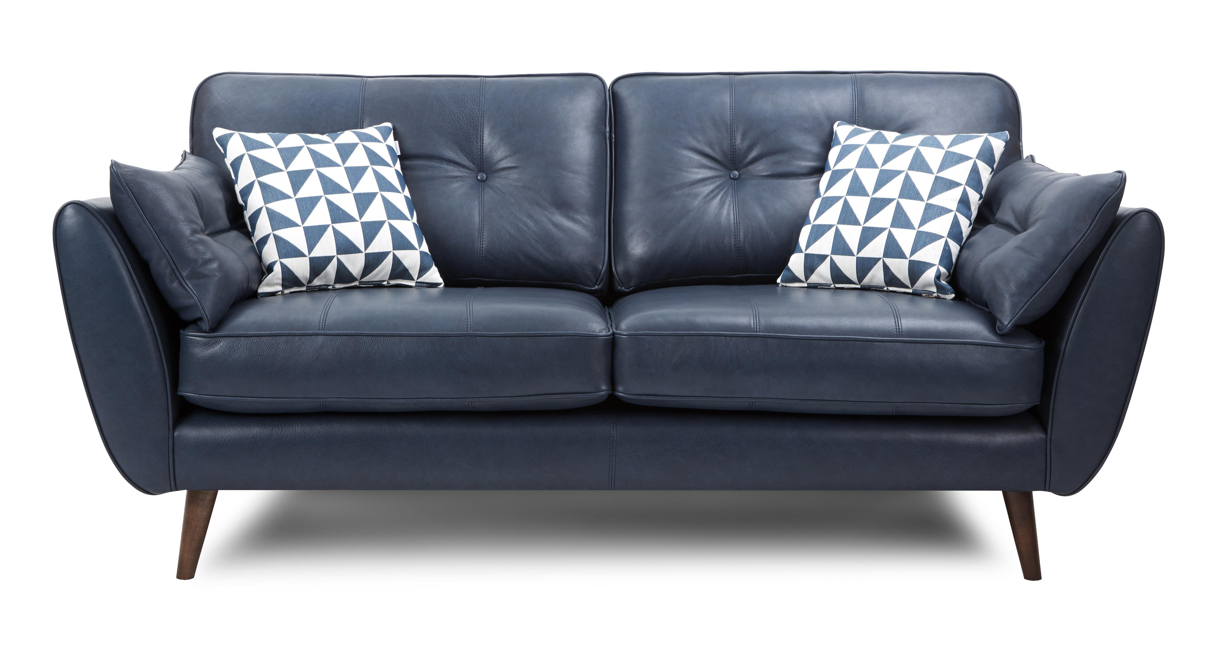 leather sofas dfs sofa beds for cheap sales and deals blues