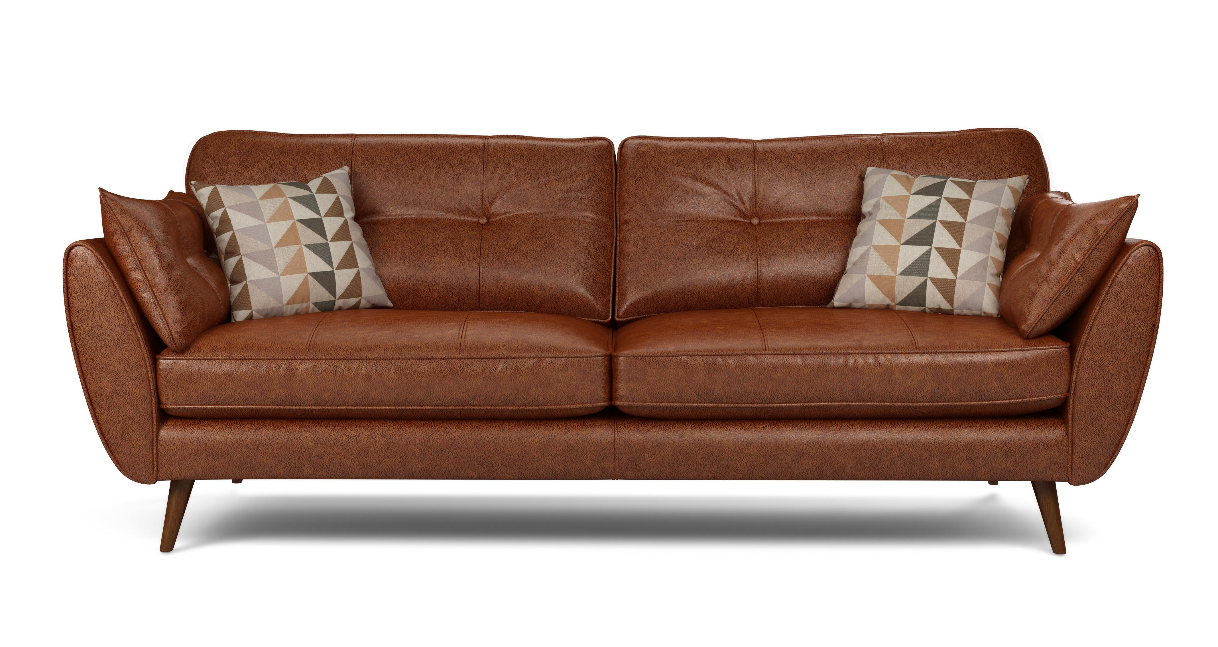 leather sofas dfs ashley furniture reclining sofa and loveseat sales deals browns winter sale zinc 4 seater french connection