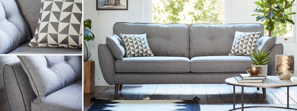 contemporary fabric sofas tempered glass sofa console shelf table and modern dfs zinc by french connection