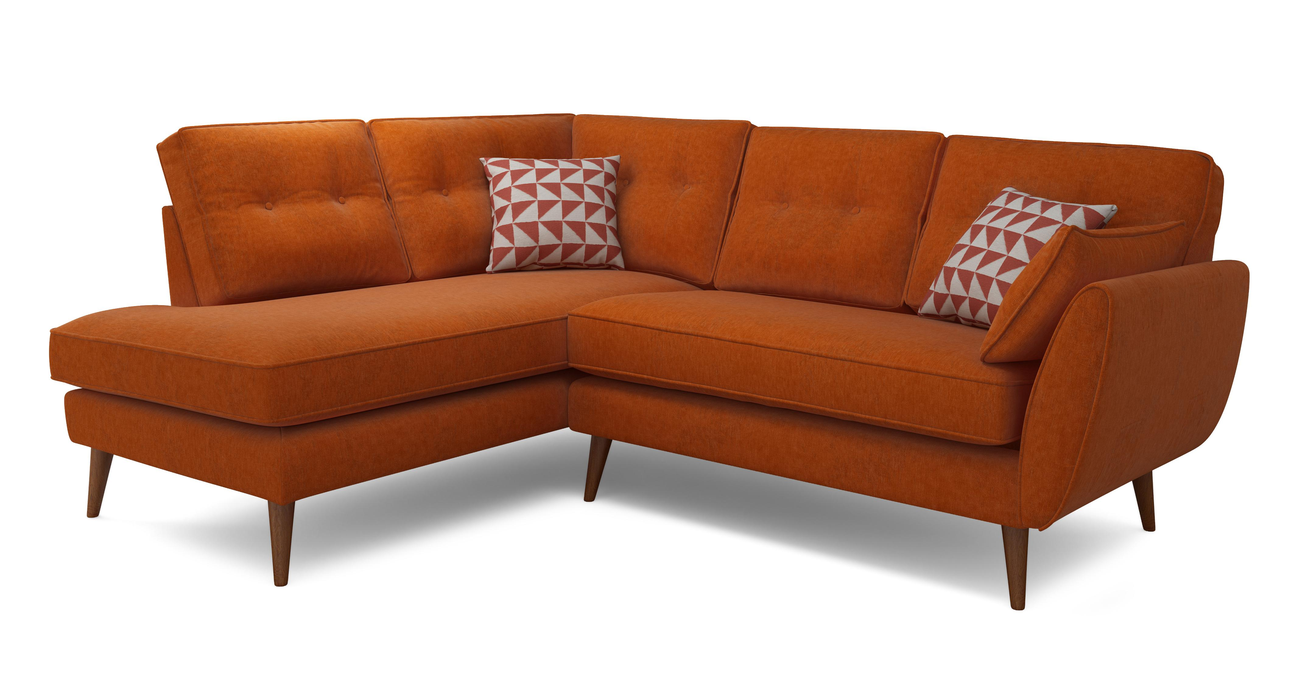 orange sofa uk best slipcover fabric corner sofas in a range of great styles oranges dfs winter sale zinc right arm facing group french connection