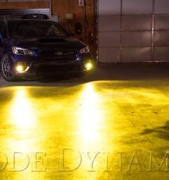 2017 subaru wrx sti diode dynamics fog light leds yellow installed [ 1500 x 1000 Pixel ]