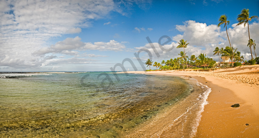 poipu beach panorama