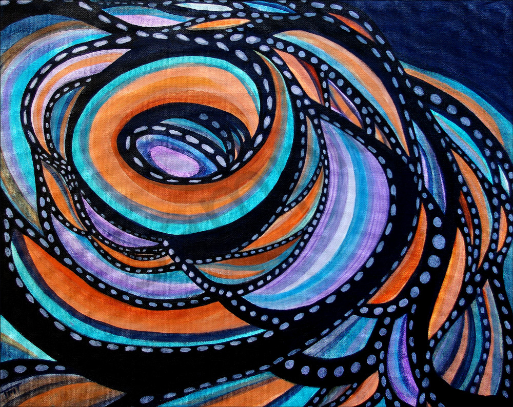 geometric patterns swirling curve