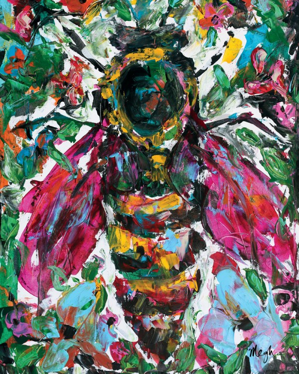 Paradise Queen Bee Painting