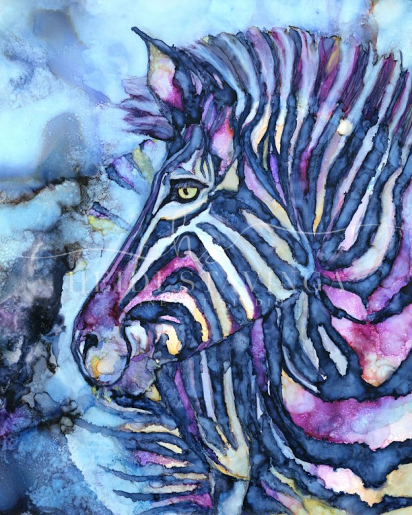 Nina Alcohol Ink Art - Zebra Painting Heidi Stavinga