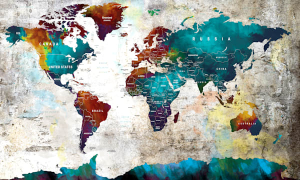 colorful water color world
