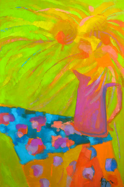 abstract sunflower paintings by